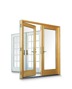 Exterior doors help keep cold air outside