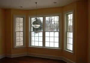 Breakfast nook windows in Martinsburg, WV home