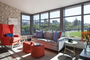 Andersen Casement and Picture Windows with painted interiors