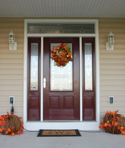 Elegant front door in Clear Spring, MD custom colonial by MTB Windows & More in Clear Spring, MD