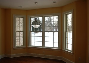 Breakfast nook windows in Martinsburg, WV home