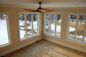 Sunroom windows in Martinsburg, WV home