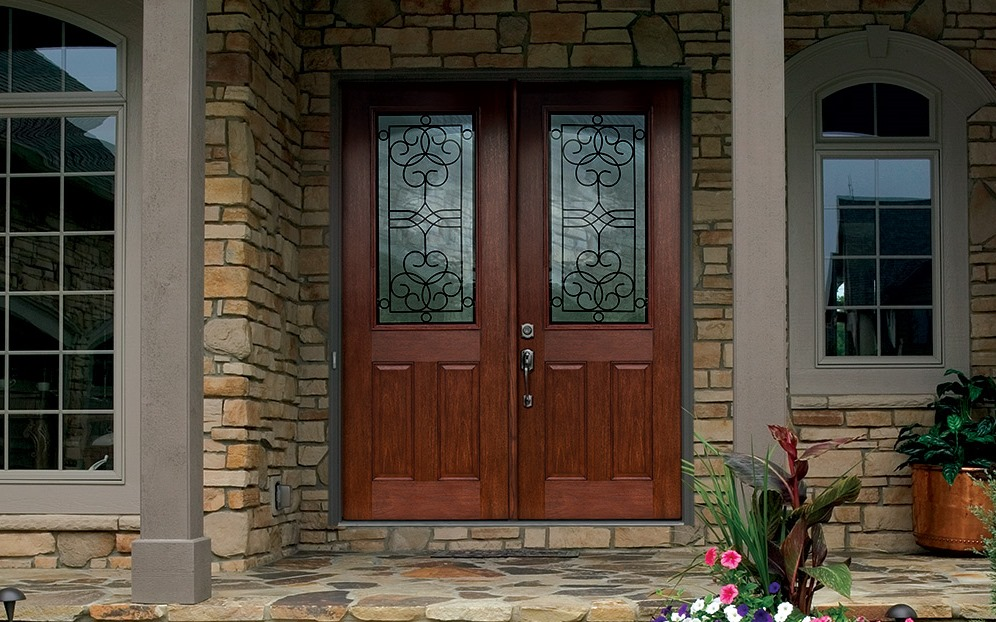 Therma Tru Double Front Entry Doors Mt Tabor Builders Windows And More