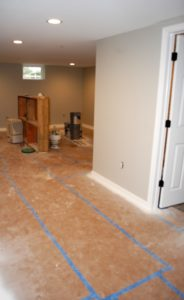 Basement finishing in Hagerstown, MD by Mt. Tabor Builders of Clear Spring, MD. We finish basements.